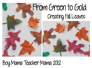 Green to Gold: Creating Fall Leaves - a fall craft