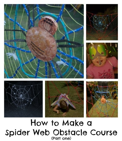 How to Make a Spider Web Obstacle Course by Wildlife Fun 4 Kids