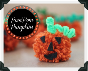Pom Pom Pumpkins for Fall by Repeat Crafter Me @BonbonBreak