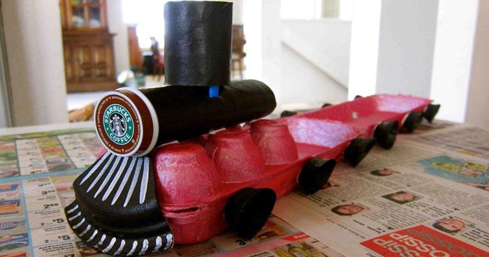 Préférence Upcycle: Egg Carton Train GM33