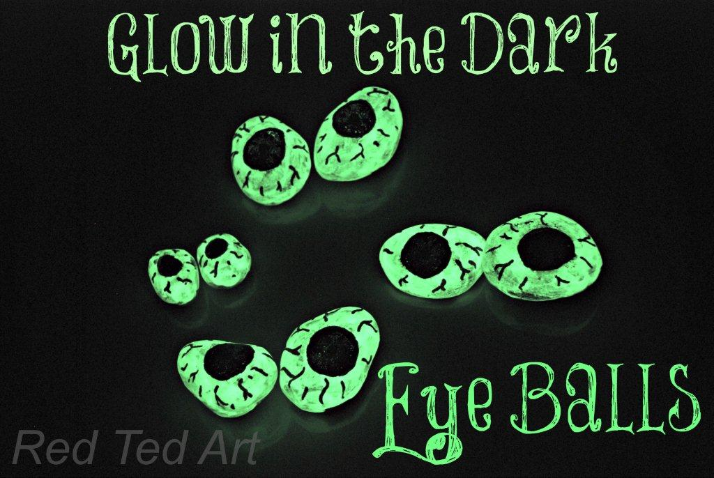 Halloween Crafts: Glow in the Dark Eyeballs by Red Ted Art's Blog