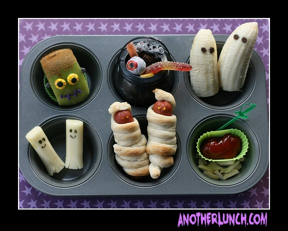 muffin tin halloween by another lunch bonbon break. Black Bedroom Furniture Sets. Home Design Ideas