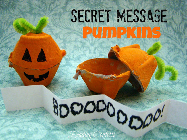 Secret Message Pumpkins by Reading Confetti
