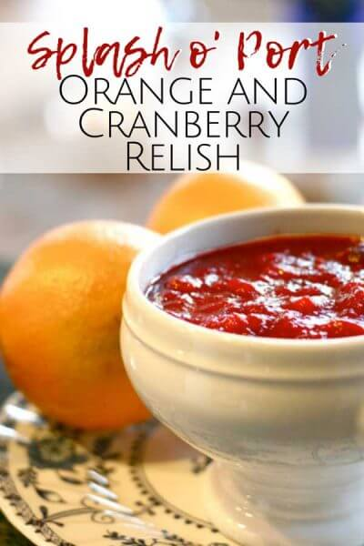 This orange and cranberry relish has such a fresh taste and it is perfect for your Thanksgiving table.