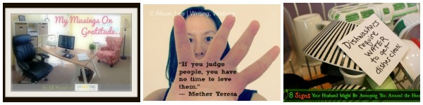 Gratitude, Judgement-Free Zones & Annoying Husbands