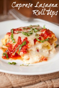 Caprese Lasagna Roll Ups by Cooking Classy | @BonbonBreak