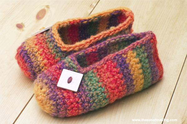 Crochet Pattern Rainbow Striped Slippers Zen Of Making