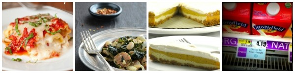 Hearty Fall Dinners, Pumpkin Cheesecake & Organic Milk