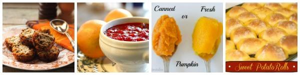 Stuffing, Turkey, Cranberry Relish, Pumpkin & Rolls