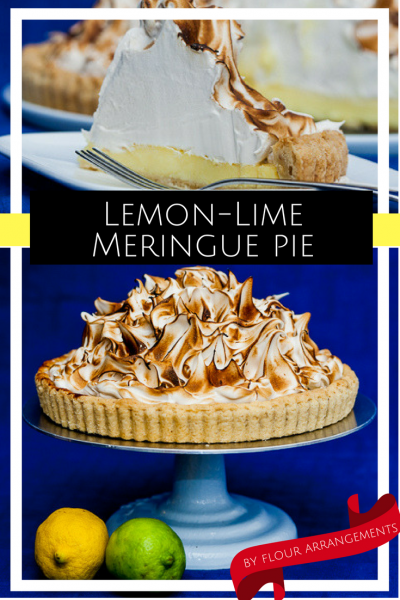 This lemon-lime pie from Flour Arrangements is the perfect summer dessert for a potluck family dinner