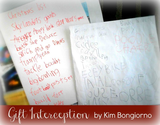 Gift Interception by Kim Bongiorno of Let Me Start by Saying