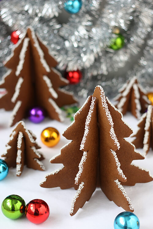 3d Christmas Tree Gingerbread Cookies By Not Martha