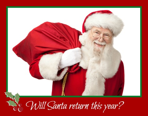 Will Santa Return this Year? by Rebecca Gallagher will santa return
