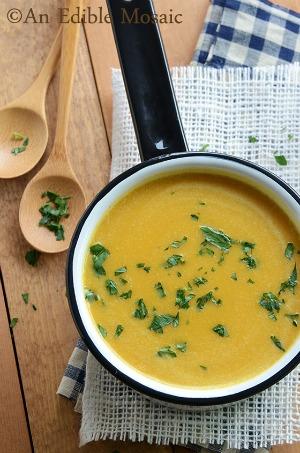 Brown Sugar Pumpkin Soup by An Edible Mosaic