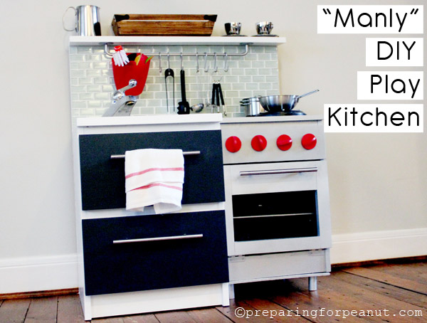 Manly play kitchen