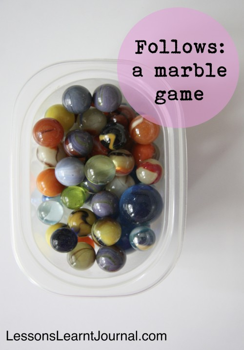 Marble Game Follows