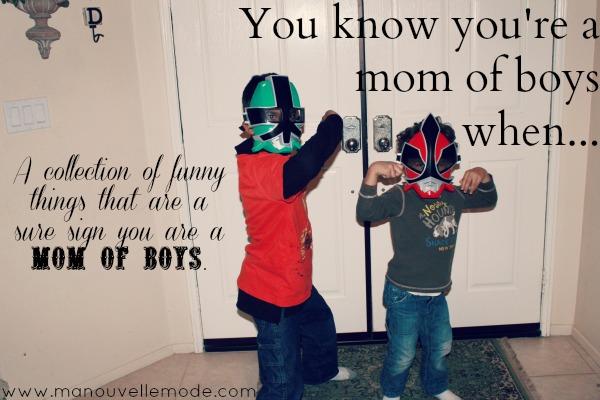 Mom with boys