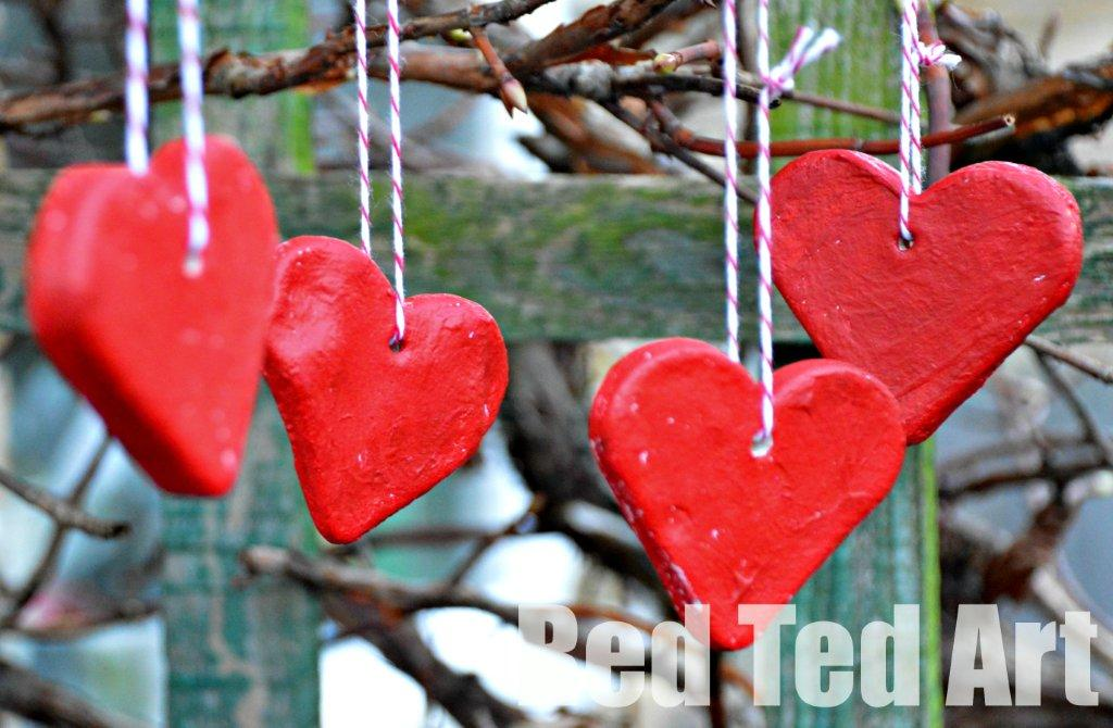 Salt Dough Recipe: Valentines Decorations by Red Ted Art Salt dough crafts for kids