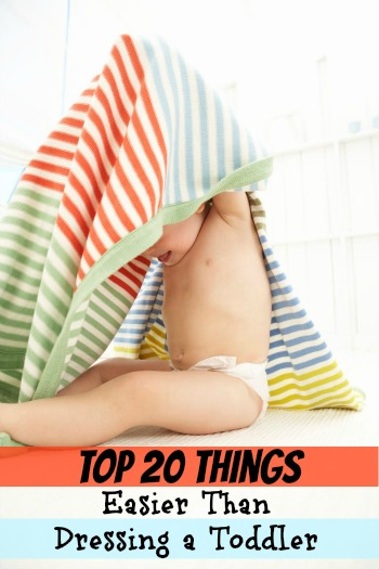 Top 20 Things Easier Than Dressing a Toddler