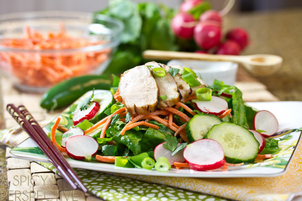 Vietnamese Banh Mi Salad Recipe by Spicy Perspective