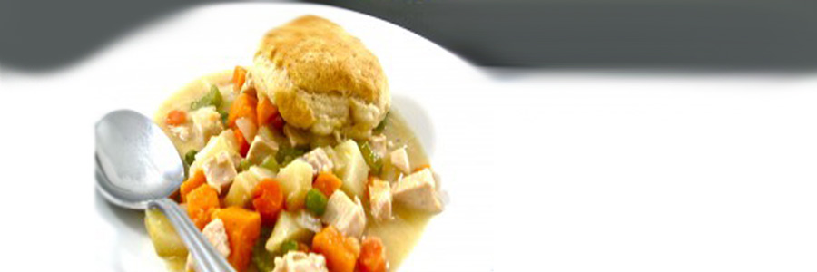Skinny Kitchen's Chicken Pot Pie with Sweet Potato and Apples