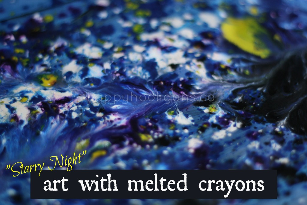 Art with Melted Crayons by Happy Hooligans