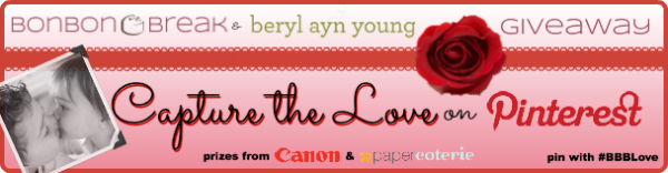 {Giveaway} Capture the Love on Pinterest pinterest giveaway banner 600