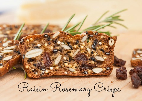 Going Crackers: Raisin Rosemary Crisps Recipe by Flour Arrangements