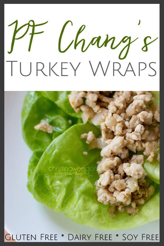 Allergy friendly PF Changs turkey lettuce wraps