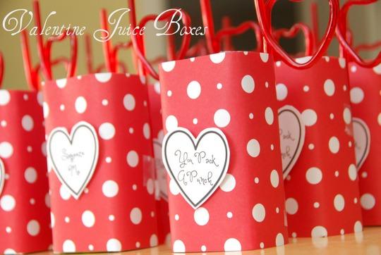 valentine juice boxes unique creative ideas