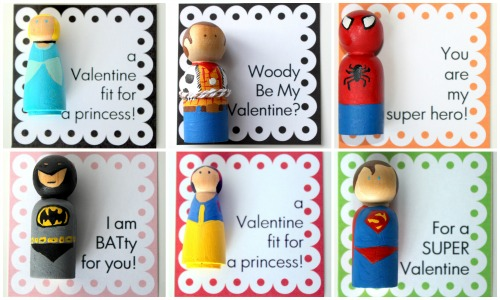 BB Valentine Peg Doll Collage