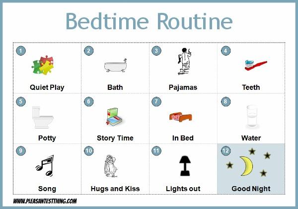 Bedtime Routine for preschoolers