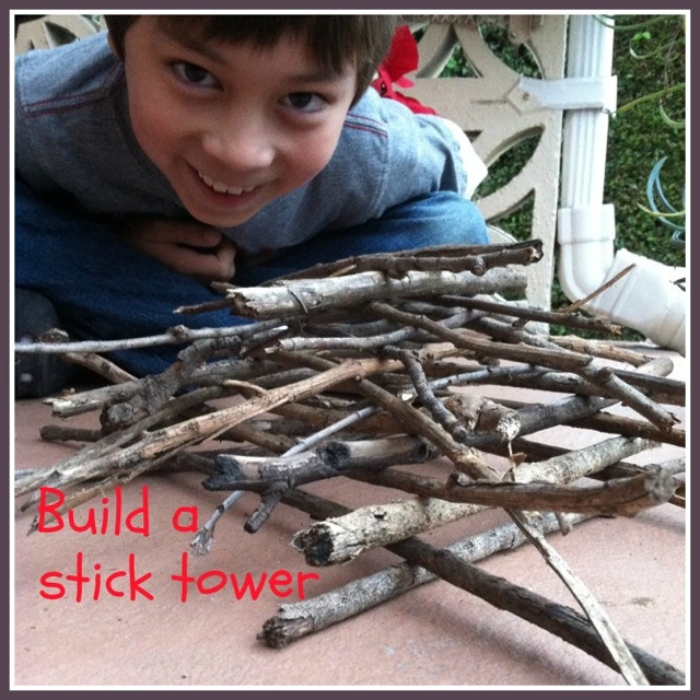 Build a Stick Tower with Go Explore Nature Build a stick tower