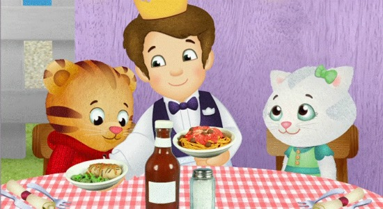 Daniel Tiger Eating in Restaurant