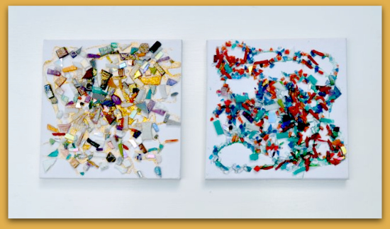 Mosaic scatter paintings