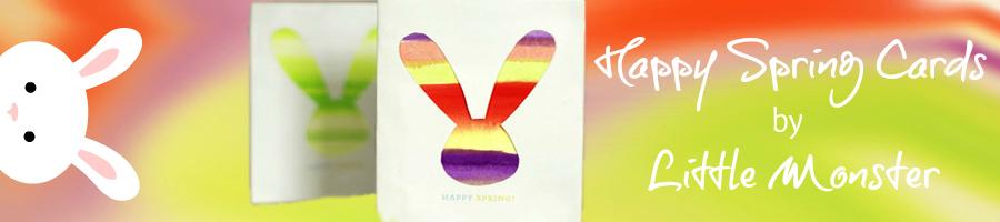 Happy Spring Card Tutorial by Lisa Fyfe of Little Monster