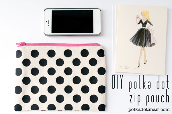 Polka Dot Zip Pouch Design Your Own Fabric