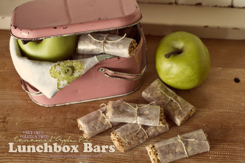 Gluten-Free, Nut-Free Caramel Apple Pie Lunchbox Bar by Small Potatoes