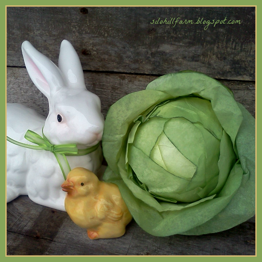Faux Cabbage from Coffee Filters from by Silo Hill Farms