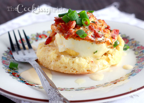 Baked Eggs with Hollandaise Sauce by The Cooking Bride