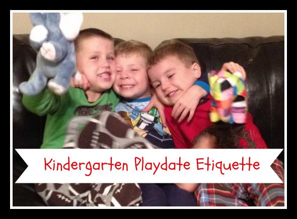 Kindergarten Playdate Etiquette
