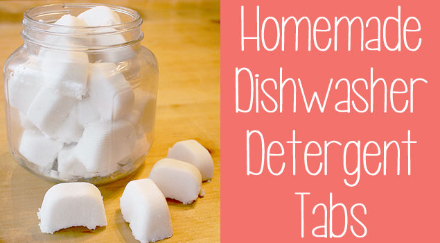 Make Your Own Dishwasher Detergent Tabs by One Good Thing By Jillee