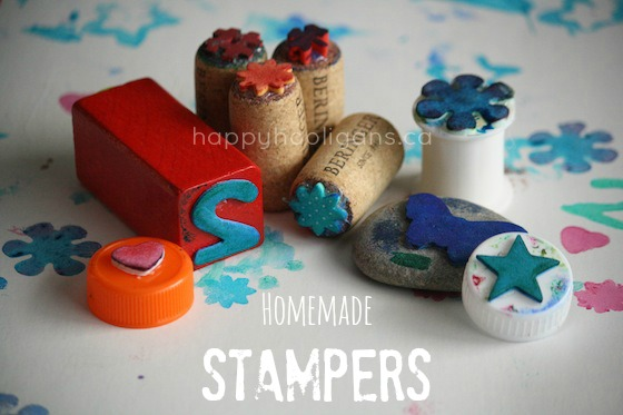 Homemade Stampers by Happy Hooligans
