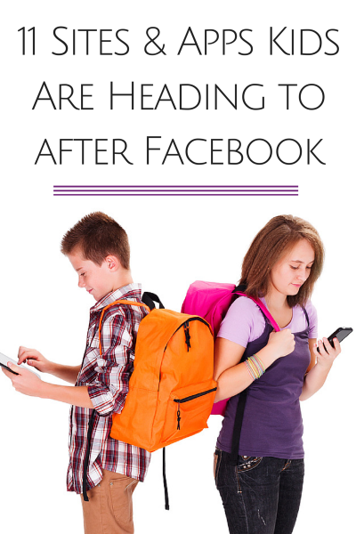 11 Sites and Apps Kids Are Heading to After Facebook - Next-generation apps that let users text, video chat, shop, and share their pics and videos are attracting teens like catnip.