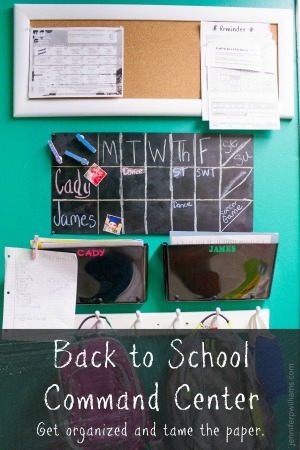 Back-to-School Command Center by Jennifer P. Williams