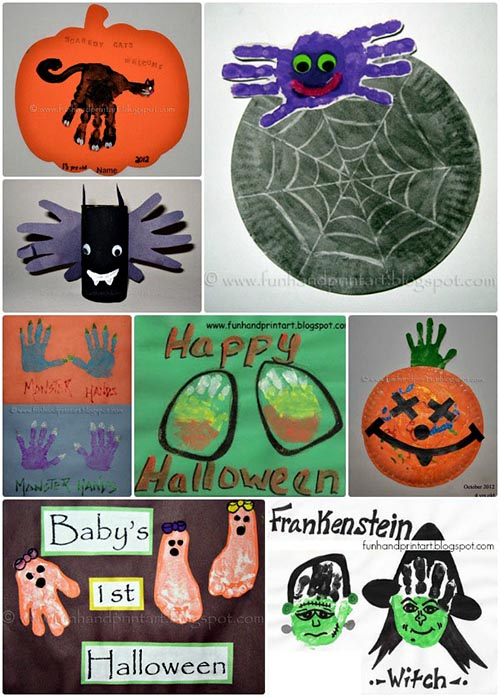 Handprint & Footprint Halloween Crafts by Artsy Momma