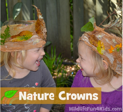 Easy Nature Crowns for Kids by Wildlife Fun 4 Kids