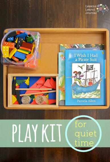 Play Kit for Quiet Time: Dominoes & Hammering by Lessons Learnt Journal