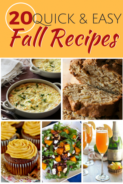 We have soups, casseroles, quick breads, pumpkin spice everything, butternut squash apple cider and more for you. These easy and quick fall recipes will be a breeze.