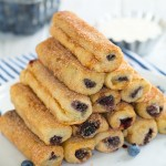 Blueberry French Toast Roll Ups with Cream Cheese Dipping Sauce by Cooking Classy